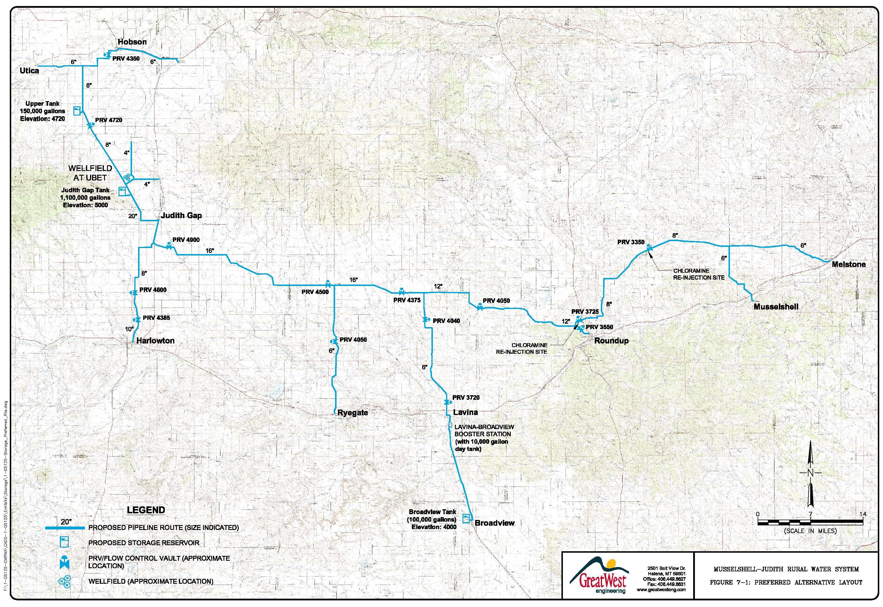 CMRWA proposed route